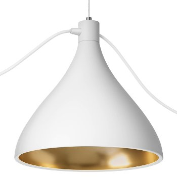 Shown in White-with-Brass finish