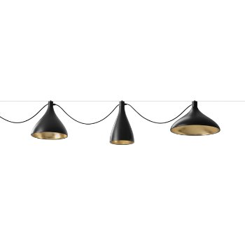 Shown in Black with Brass finish, horizontal mounting (sold separately)