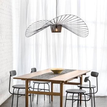 Black finish, Large size, in use over dining table