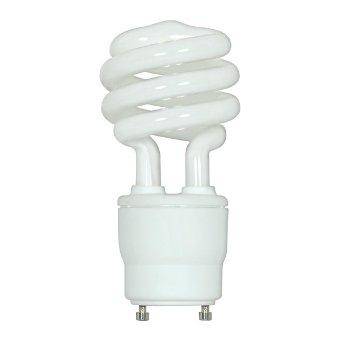 18W 120V T2 GU24 Mini Spiral CFl Bulb 2-Pack