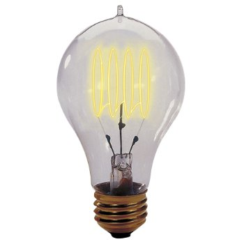 25W 120V A19 E26 Quad Loop Edison Bulb 2-Pack
