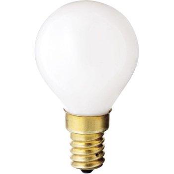 40W 120V G14 E14 White Globe Bulb (4-PACK)