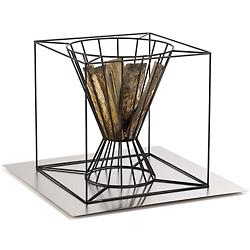 Boo Fire Basket with Metal Plate