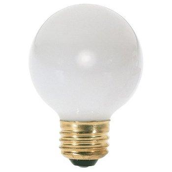 25W 120V G16 1/2 E26 Gloss White Bulb 6-Pack
