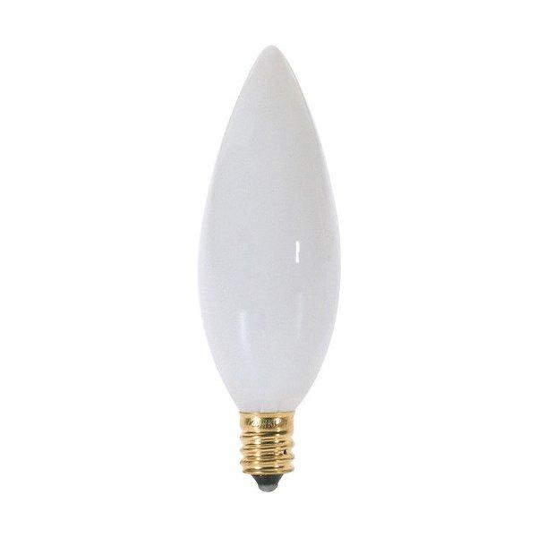 40W 120V BA9 1/2 E12 White Bulb 6-Pack