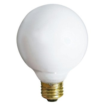 25W 120V G25 E26 Gloss White Bulb (3-Pack)