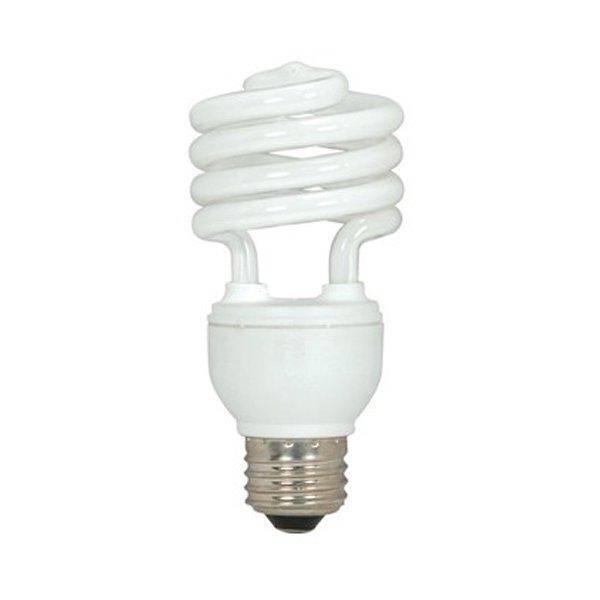 18W 120V T2 E26 Mini Spiral CFL Bulb (2-Pack)