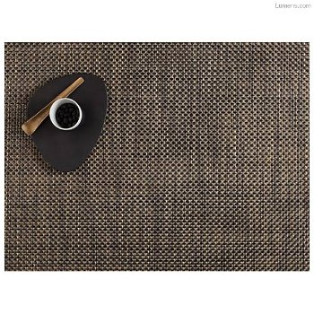 Basketweave Black/Gold Set of 4 Tablemats