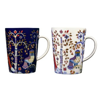 Taika Mug Blue & White Set