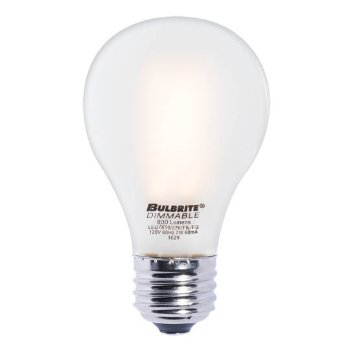 7W 120V A19 E26 LED Filament Frosted Bulb (4-Pack)