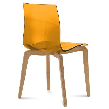 Shown in Transparent Orange, Light Oak finish