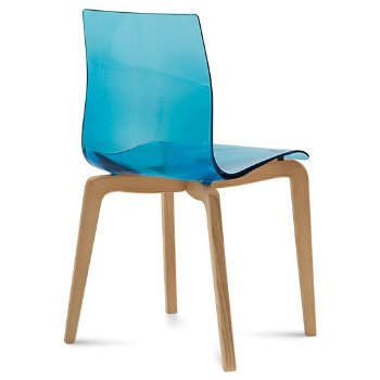 Shown in Transparent Blue, Light Oak finish