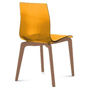 Shown in Transparent Orange, Walnut finish