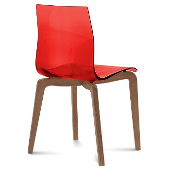 Shown in Transparent Red, Walnut finish
