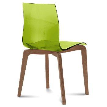Shown in Transparent Green, Walnut finish