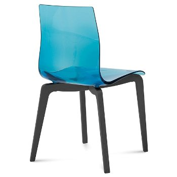 Shown in Transparent Blue, Anthracite finish