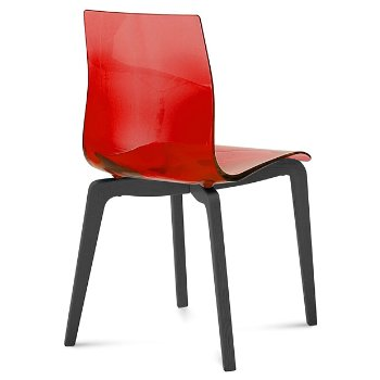 Shown in Transparent Red, Anthracite finish