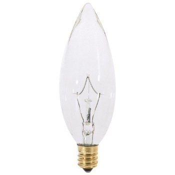 40W 120V B10 E12 Clear Bulb 6-Pack