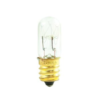 15W 130V T4 E12 Clear Incandescent Bulb 3-Pack