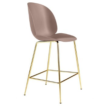 Shown in New Beige, Brass base finish, Bar Height