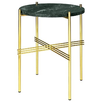 Shown in Green Marble Top finish, Brass Base finish