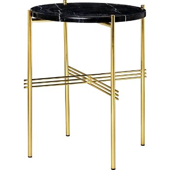 Shown in Black Marble Top finish, Brass Base finish