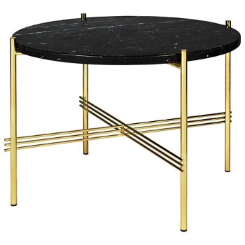 Shown in Black Marquina Marble Top finish, Brass Base finish