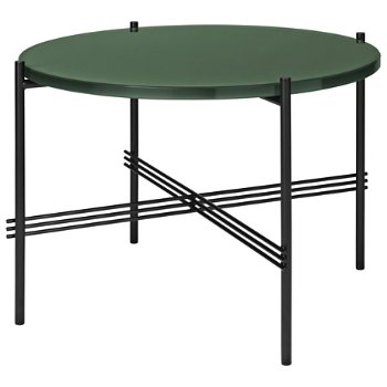 Shown in Dusty Green Glass Top finish, Black Base finish