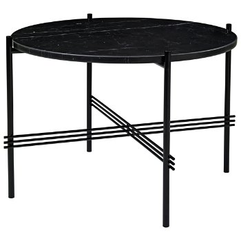 Shown in Black Marquina Marble Top finish, Black Base finish