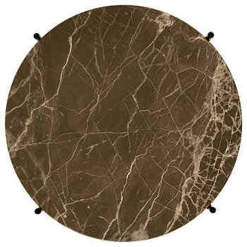 Shown in Brown Emperador Marble Top finish,  Black Base finish