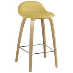 3D Dining Stool Wood Base