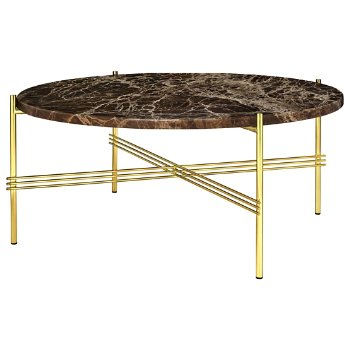 Shown in Brown Emperador Marble Top finish, Brass Base finish?Ylabel=Brown Emperador Marble Top finish / Brass Base finish