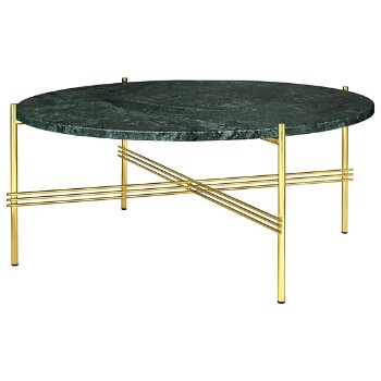 Shown in Green Guatemala Marble Top finish, Brass Base finish