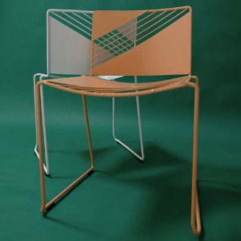 Cafe Chair Set of 2, in use