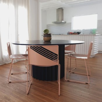 Shown in Peachy Pink finish, in use