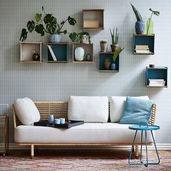 Sense 3 Seater Sofa, in use