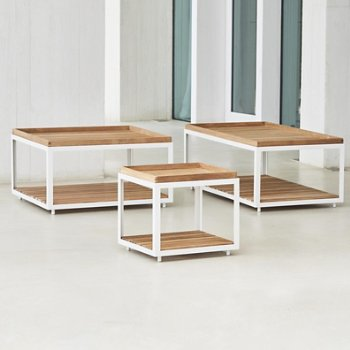 Shown in White frame with Teak finish