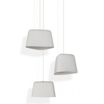 Shown in White finish, unlit, in use