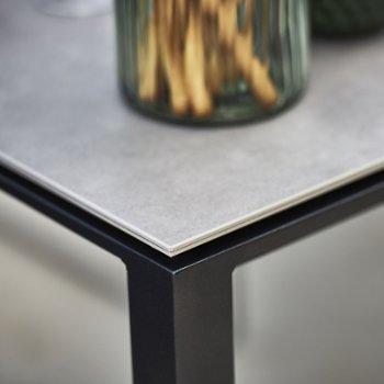Shown in Lava Grey base, Concrete Grey Ceramic top, Detail view