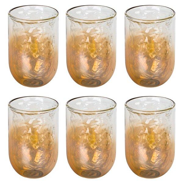 Cosmic Dinner Meteorite Glasses, Set of 6