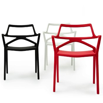 Shown in Matte Black, White, Red finish, Collection