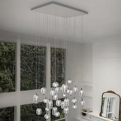 Jefferson LED Rectangular 28-Light Multi-Light Pendant