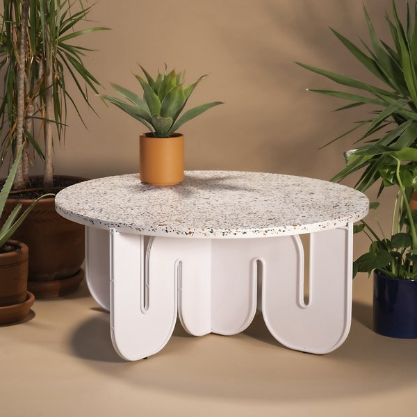 Wave Table with Terrazzo Top