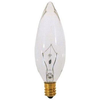 15W 120V B8 E12 Clear Bulb 6-Pack