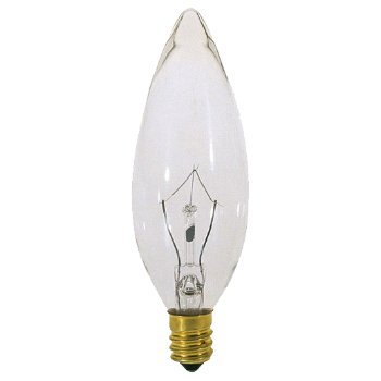 40W 120V BA9 1/2 E14 Blunt Tip Clear