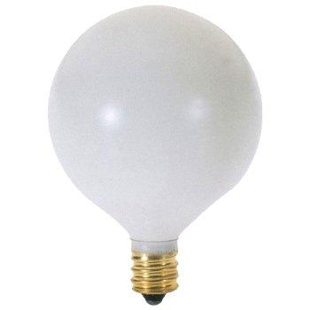 15W 120V G16 1/2 E12 White Bulb 6-Pack