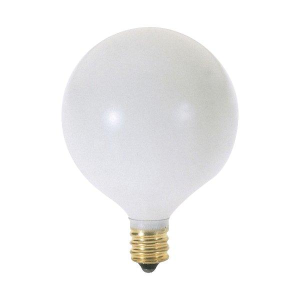 40W 120V G16 1/2 E12 Satin White Bulb 6-Pack
