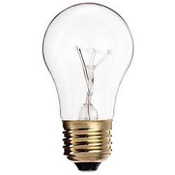 60W 130V A15 E26 Clear Bulb 4-Pack