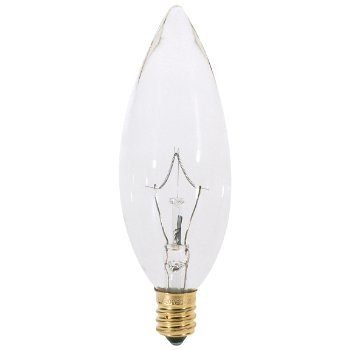 25W 120V B10 Blunt Tip Clear Bulb 6-Pack