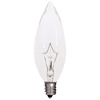 60W 120V B10 E12 Blunt Tip Krypton Clear Bulb 6-Pack